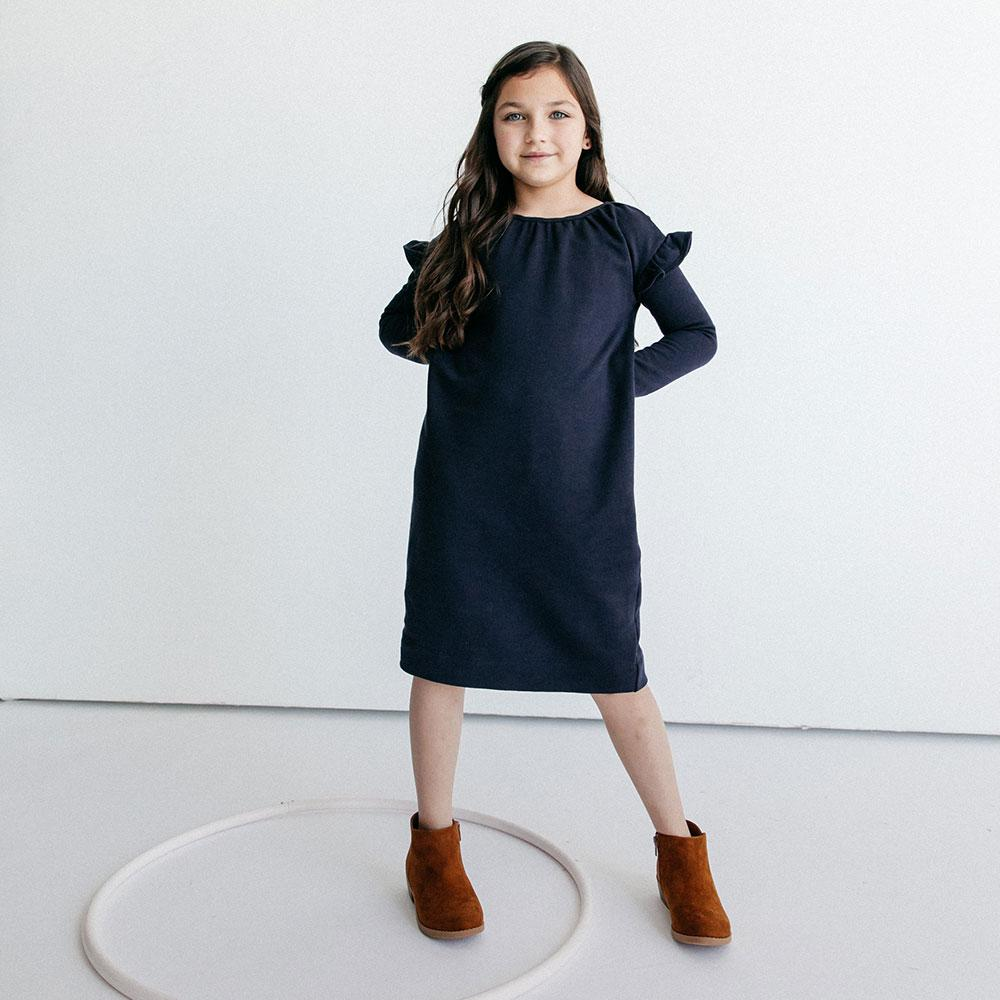Alice + Ames- THE ADA DRESS IN MIDNIGHT NAVY