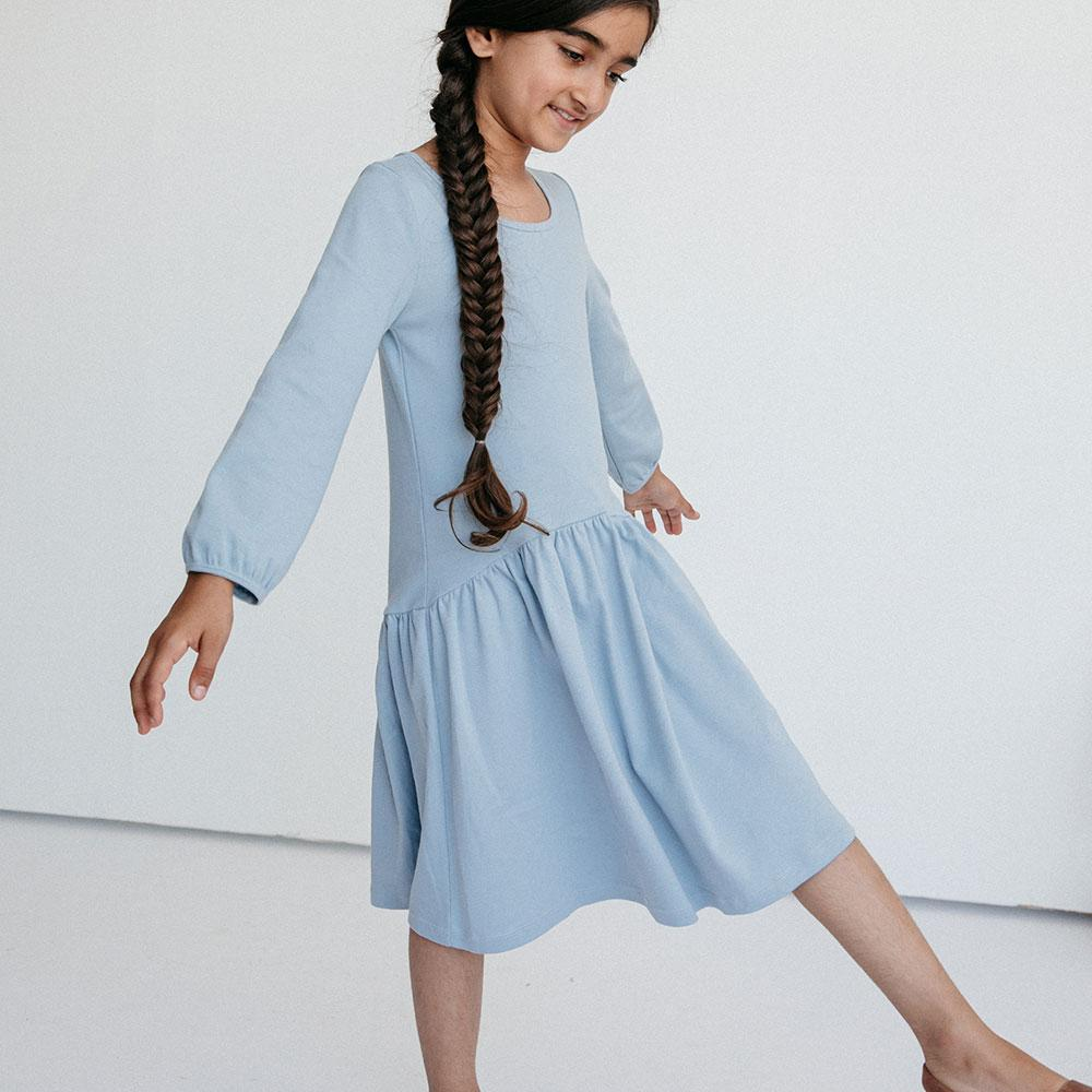 Alice + Ames- THE BETTE DRESS IN DUSTY BLUE