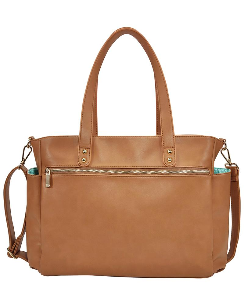 White Elm- Aquila Tote Bag - Brown Vegan Leather