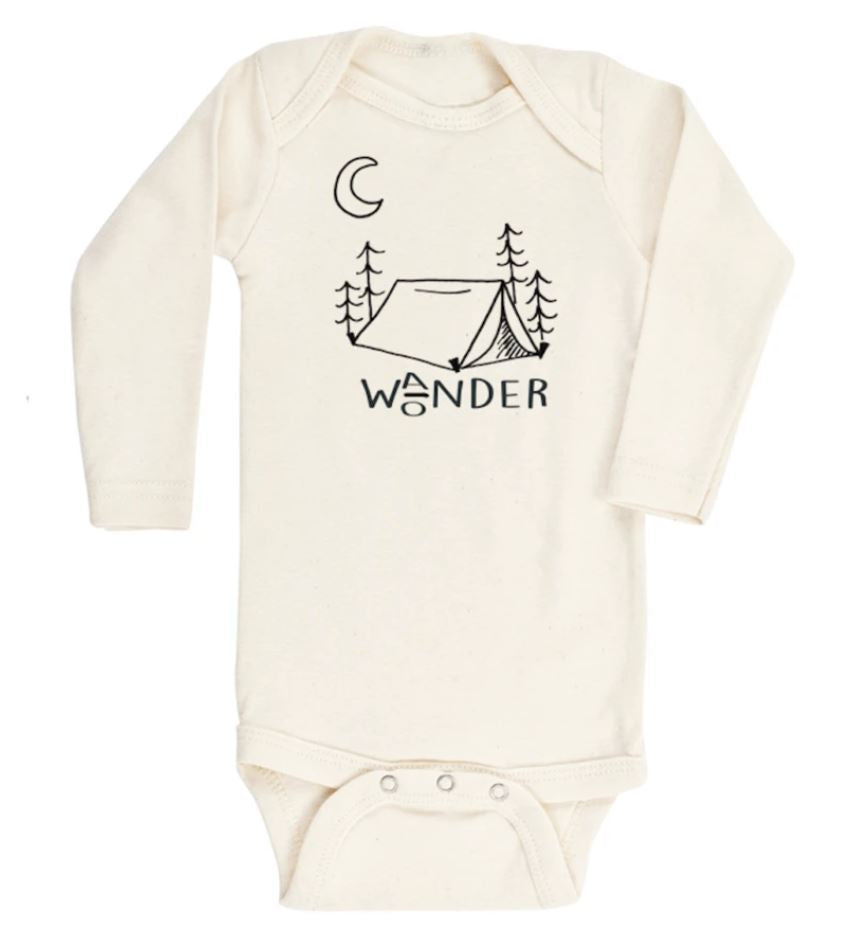 Tenth & Pine - WANDER WONDER  - ORGANIC BODYSUIT - LONG SLEEVE