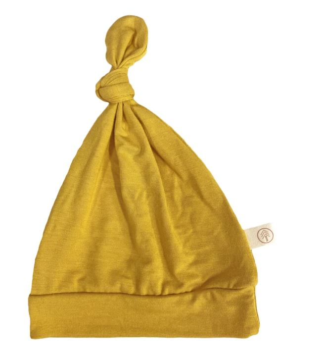 Tenth & Pine -BAMBOO BABY TOP KNOT HAT|  Honey