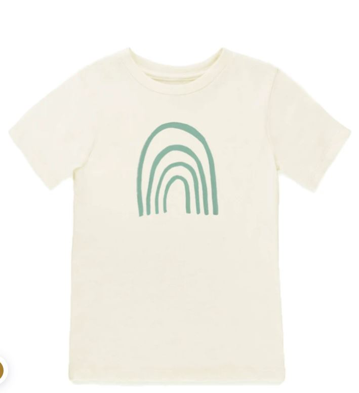 tenth & Pine - RAINBOW  - ORGANIC TEE | SEAFOAM