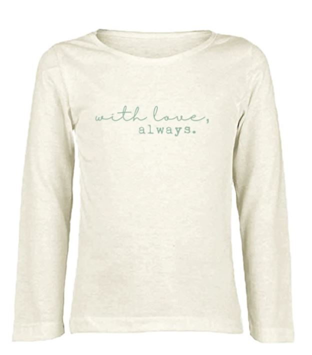 Tenth & Pine - WITH LOVE ALWAYS  - ORGANIC LONG SLEEVE TEE | SEAFOAM