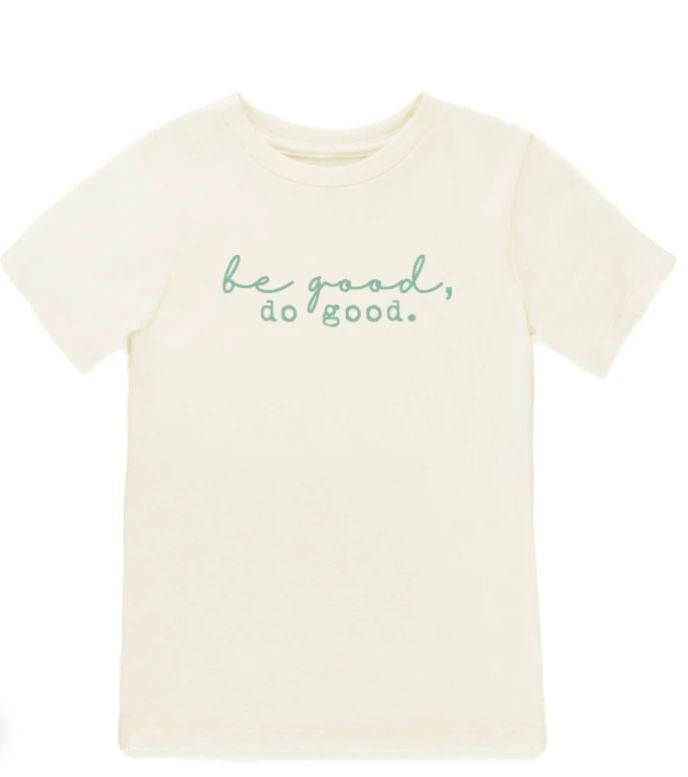Tenth & Pine - BE GOOD DO GOOD  - ORGANIC TEE | SEAFOAM
