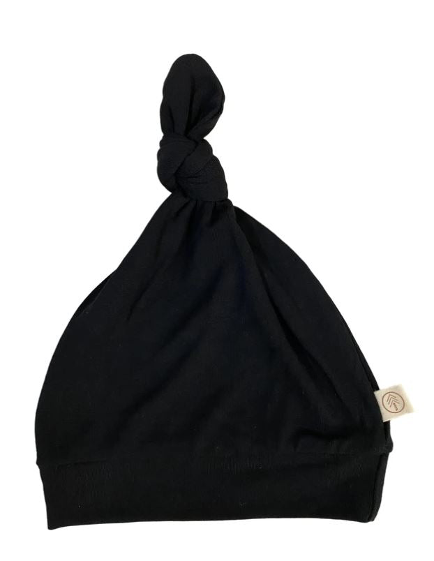 Tenth & Pine -BAMBOO BABY TOP KNOT HAT|  Black