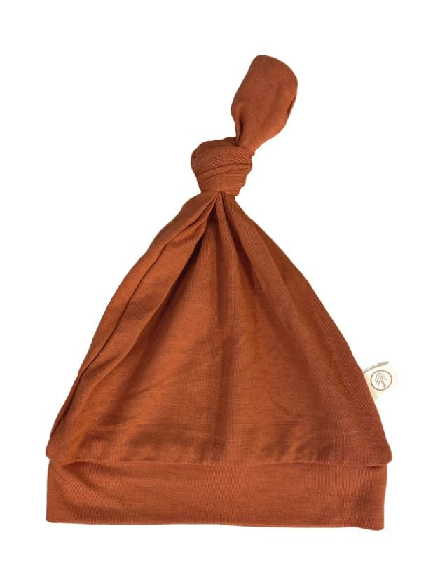 Tenth & Pine -BAMBOO BABY TOP KNOT HAT|  Rust