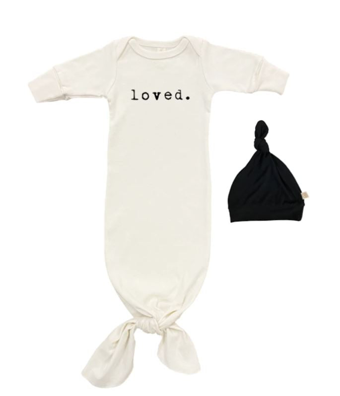 Tenth & Pine - LOVED GOWN + HAT SET |  BLACK