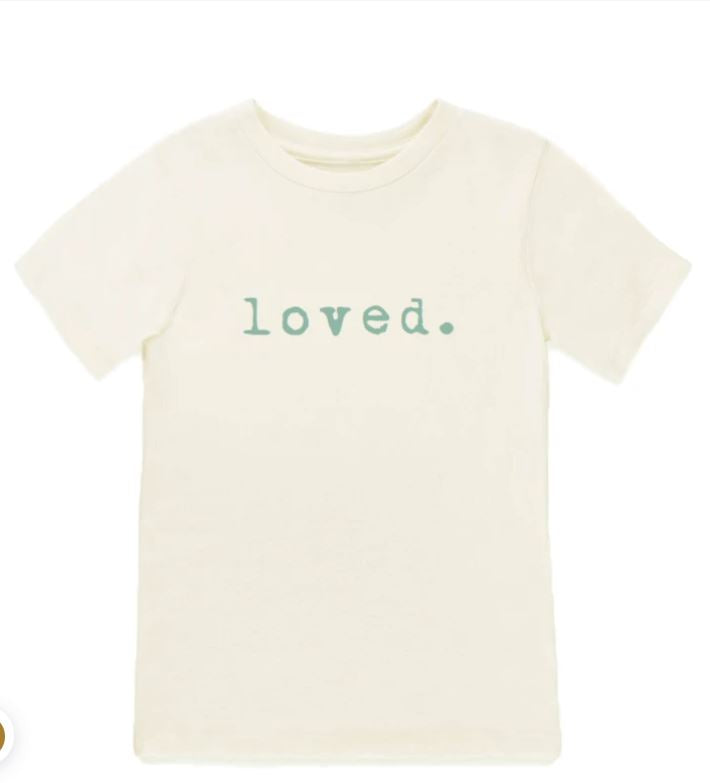 Tenth & Pine - LOVED  - ORGANIC TEE | SEAFOAM