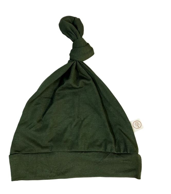 Tenth & Pine -BAMBOO BABY TOP KNOT HAT|  Olive