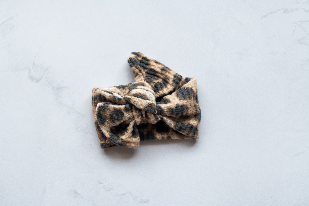 Emma Grace Shoppe- Handmade Bow knot - Animal Print