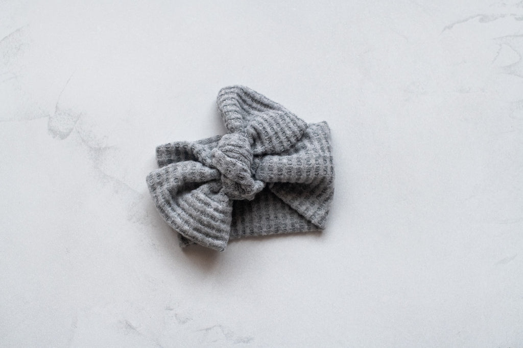 Emma Grace Shoppe- Handmade Bow knot - Gray