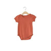 Modern Burlap  - Organic Short Sleeve Bodysuit - Colors  | ARAGON