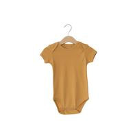Modern Burlap  - Organic Short Sleeve Bodysuit - Colors  | HONEY