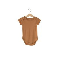 Modern Burlap  - Organic Short Sleeve Bodysuit - Colors  | GINGER