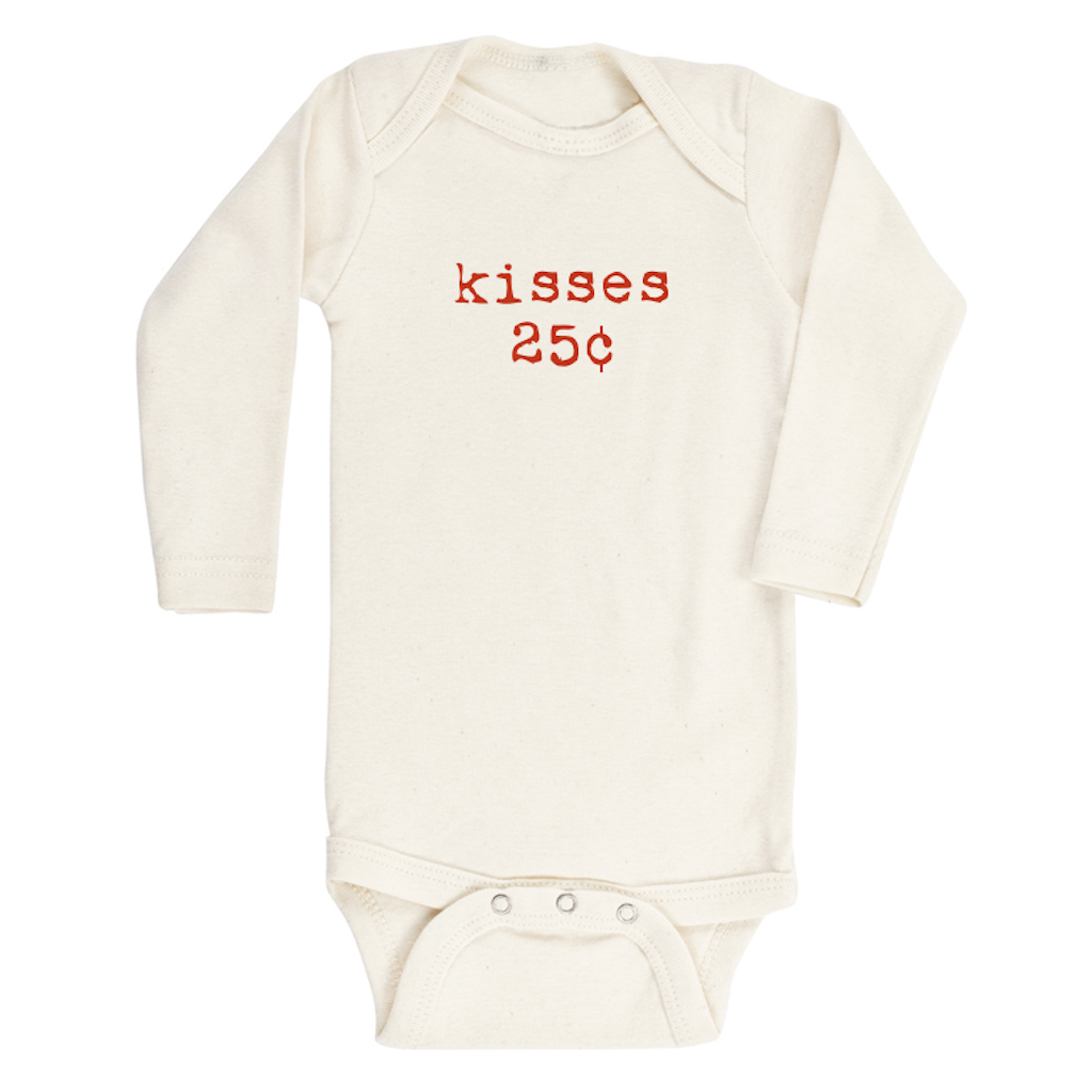 Tenth & Pine -  KISSES - ORGANIC BODYSUIT - LONG SLEEVE