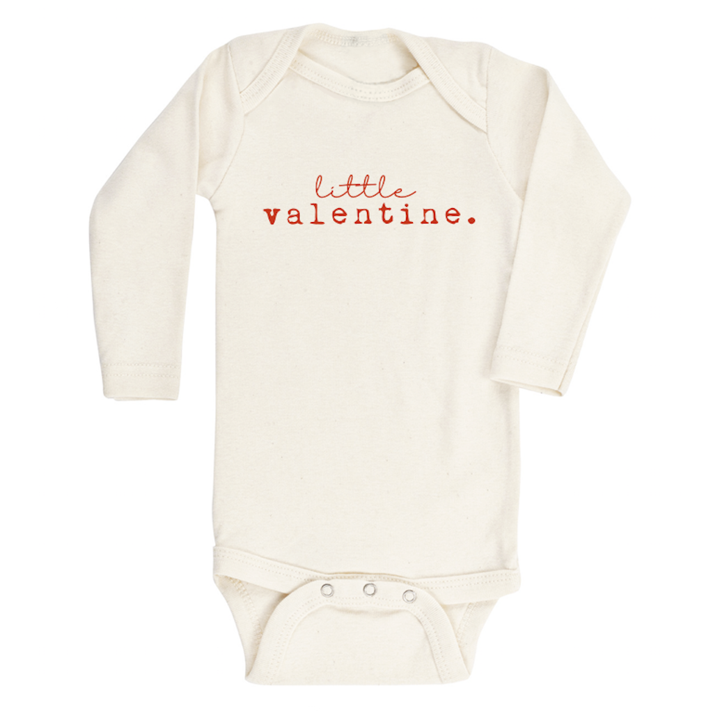 Tenth & Pine -  LITTLE VALENTINE - ORGANIC BODYSUIT - LONG SLEEVE