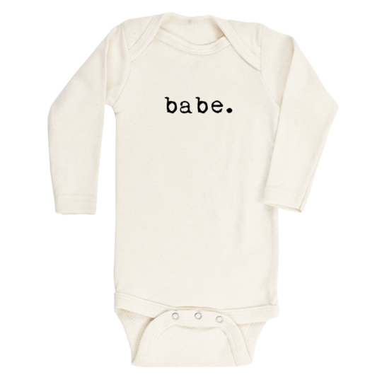 Tenth & Pine - BABE - ORGANIC BODYSUIT - LONG SLEEVE | Black