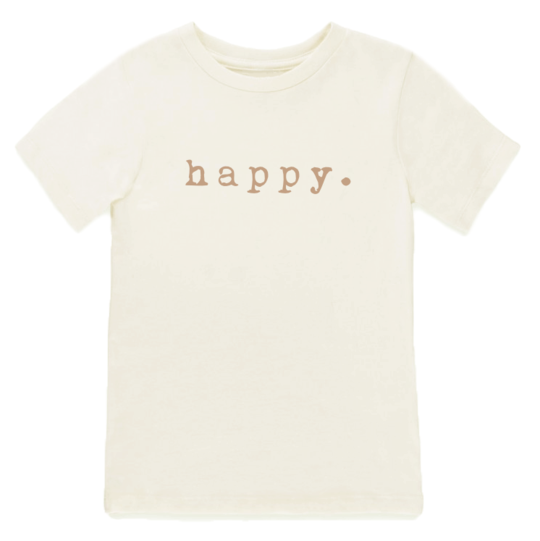 Tenth & Pine - HAPPY - ORGANIC TEE | Clay