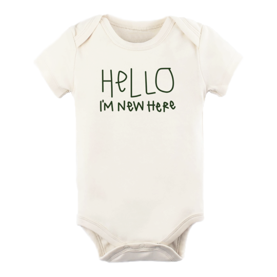 Tenth & Pine - HELLO IM NEW HERE - ORGANIC BODYSUIT