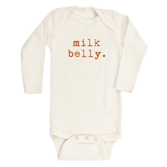 Tenth & Pine - MILK BELLY - ORGANIC BODYSUIT - LONG SLEEVE | Rust