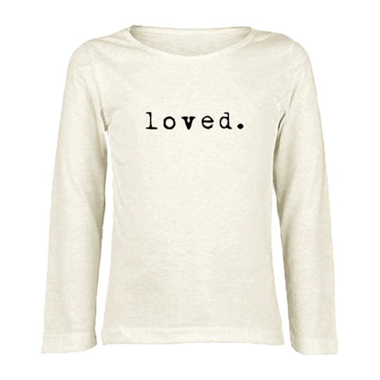 Tenth & Pine - LOVED - ORGANIC LONG SLEEVE TEE | Black