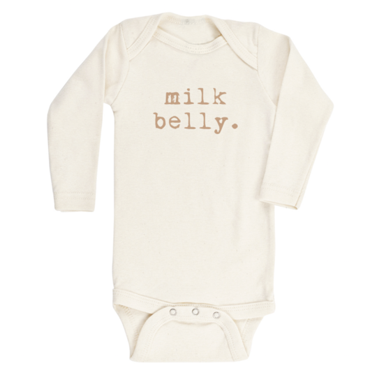 Tenth & Pine - MILK BELLY - ORGANIC BODYSUIT - LONG SLEEVE | Clay