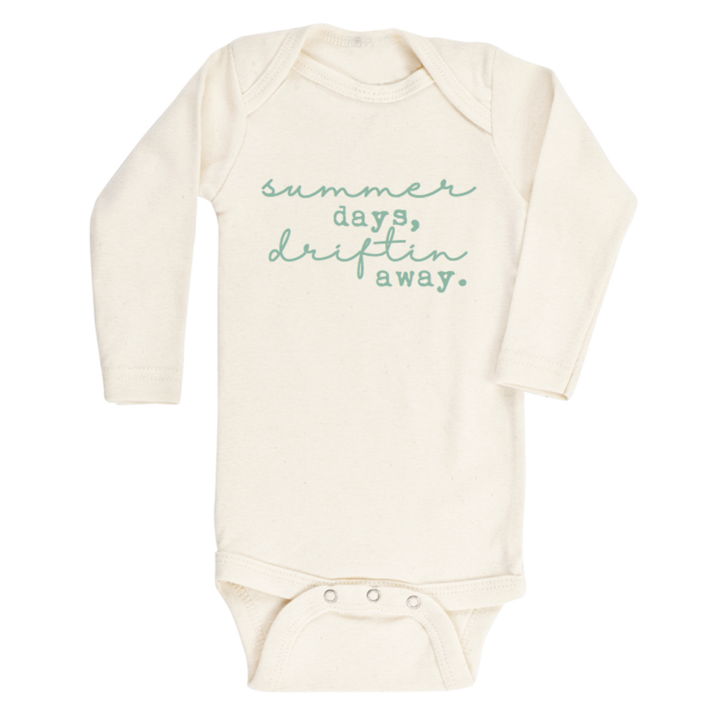 Tenth & Pine -  SUMMER DAYS DRIFTIN AWAY - ORGANIC BODYSUIT - LONG SLEEVE