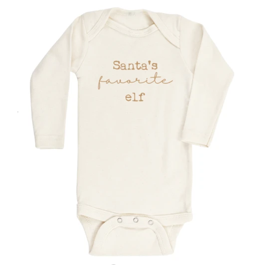 Tenth & Pine - SANTA'S FAVORITE ELF - ORGANIC BODYSUIT - LONG SLEEVE