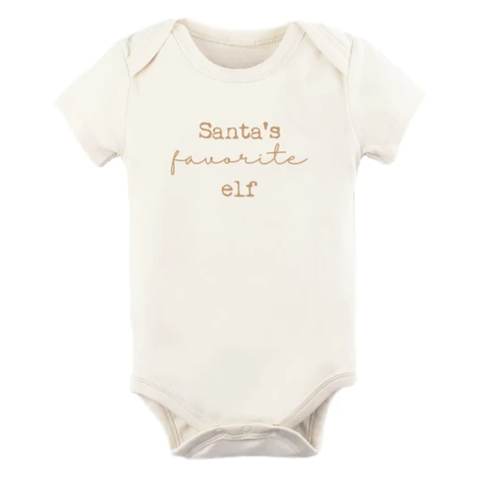 Tenth & Pine - SANTA'S FAVORITE ELF - ORGANIC BODYSUIT