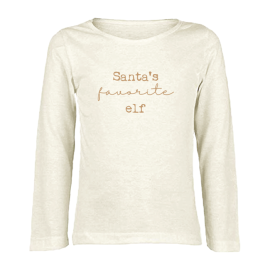 Tenth & Pine - SANTA'S FAVORITE ELF - ORGANIC LONG SLEEVE TEE