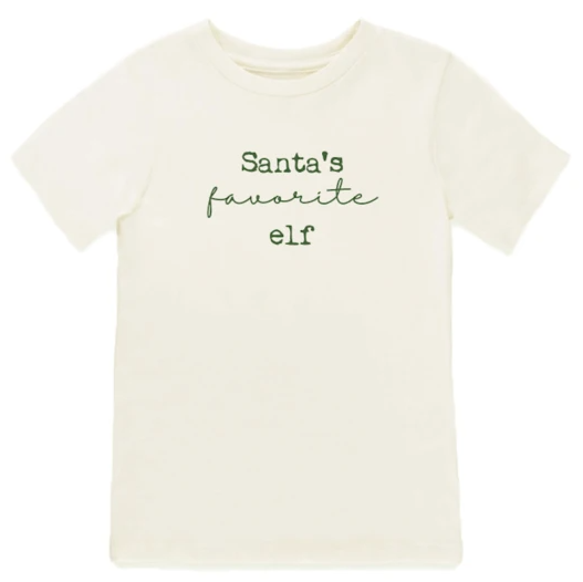 Tenth & Pine - SANTA'S FAVORITE ELF - ORGANIC TEE