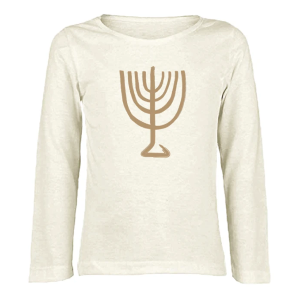 Tenth & Pine - MENORAH - ORGANIC LONG SLEEVE TEE