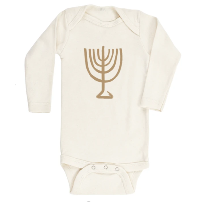 Tenth & Pine - MENORAH - ORGANIC BODYSUIT - LONG SLEEVE