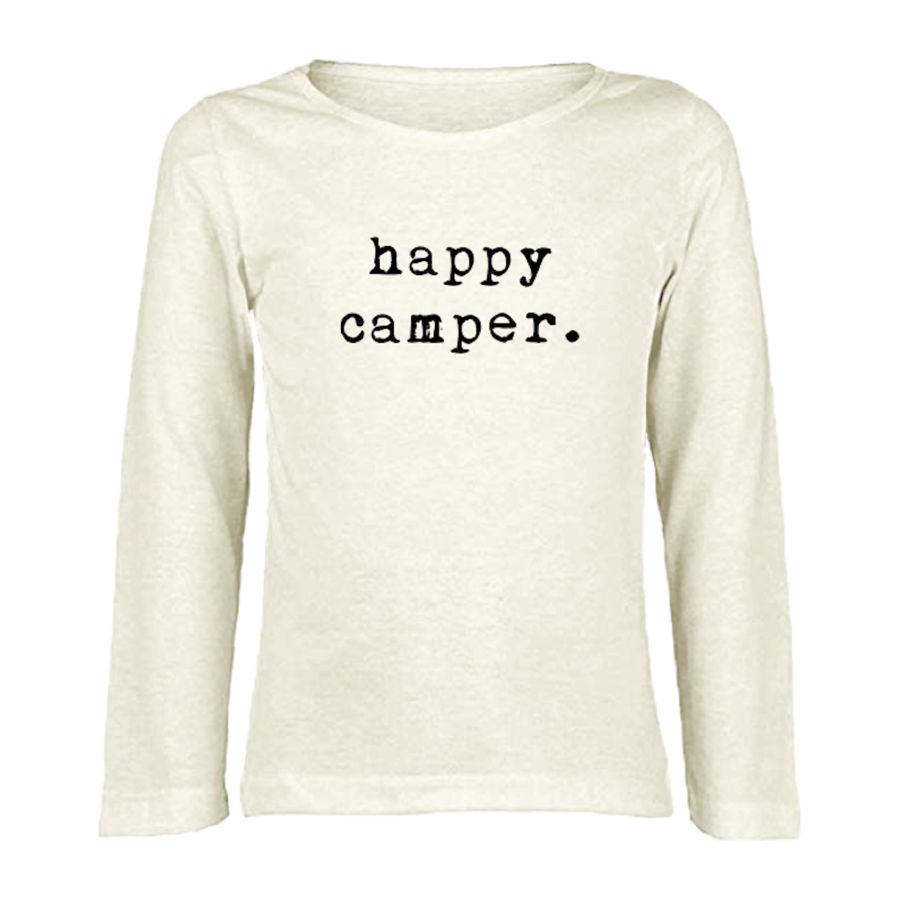 Tenth & Pine -HAPPY CAMPER - ORGANIC LONG SLEEVE TEE