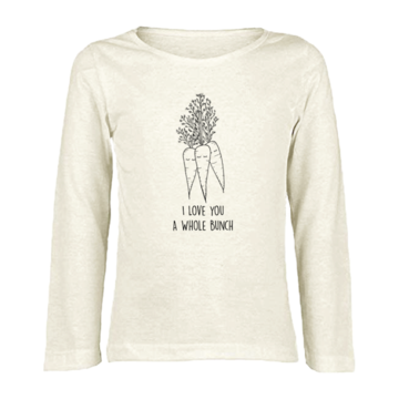 Tenth & Pine - I LOVE YOU A WHOLE BUNCH CARROTS  - ORGANIC LONG SLEEVE TEE