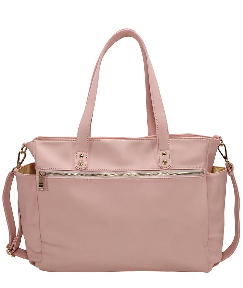 White Elm- Aquila Tote Bag - Pink Vegan Leather