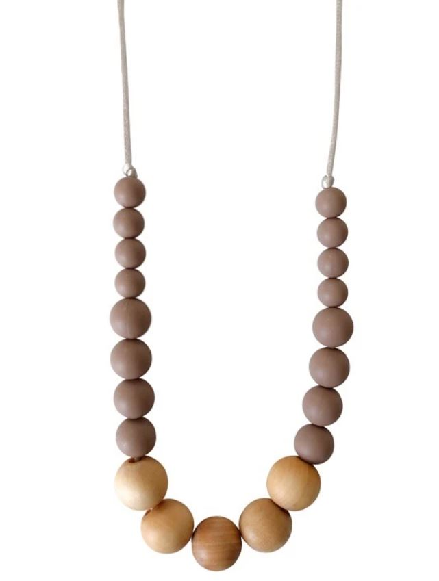 Chewable Charm - The Landon- Desert Taupe Teething Necklace
