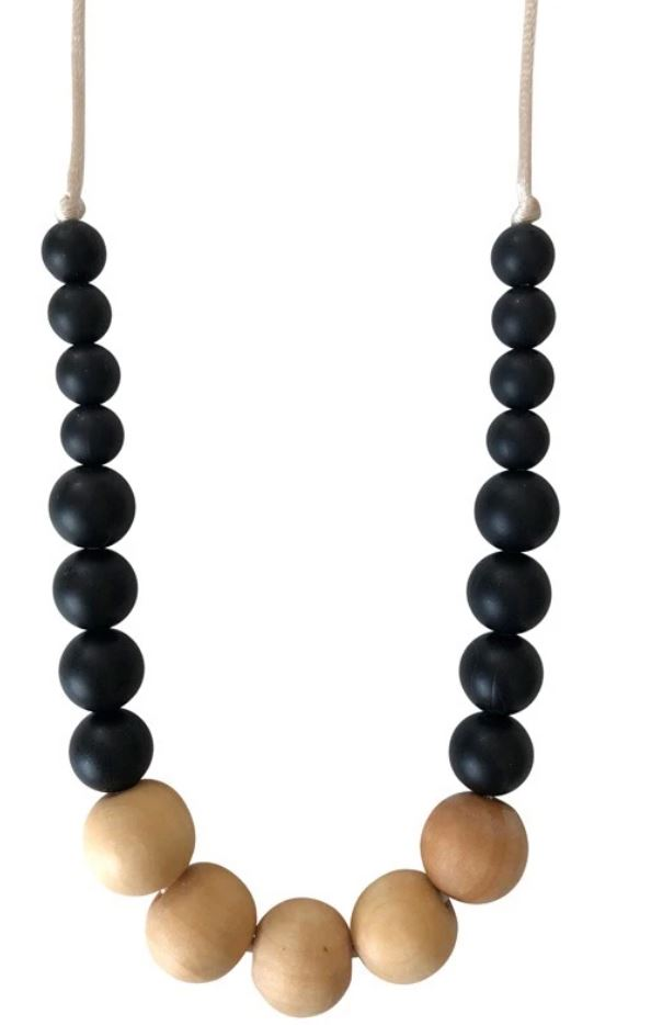 Chewable Charm - The Landon- Black Teething Necklace
