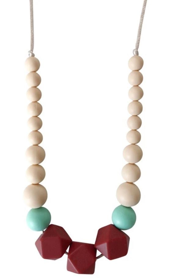 Chewable Charm - The Lacey- Marsala Teething Necklace