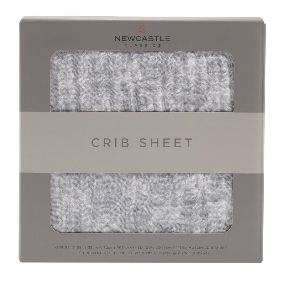 Newcastle Classics - Glacier Grey Plaid Crib Sheet