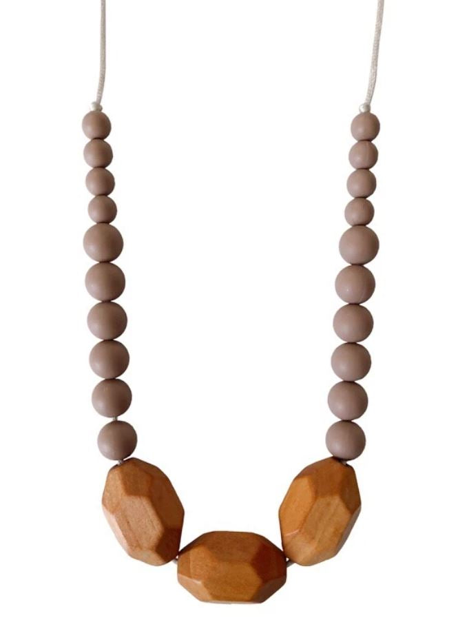 Chewable Charm - The Austin- Desert Taupe Teething Necklace