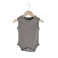Modern Burlap - Organic Tank Bodysuit - Colors  | NEUTRAL GRAY