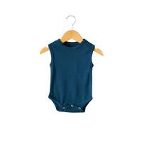 Modern Burlap - Organic Tank Bodysuit - Colors  | SAILOR BLUE