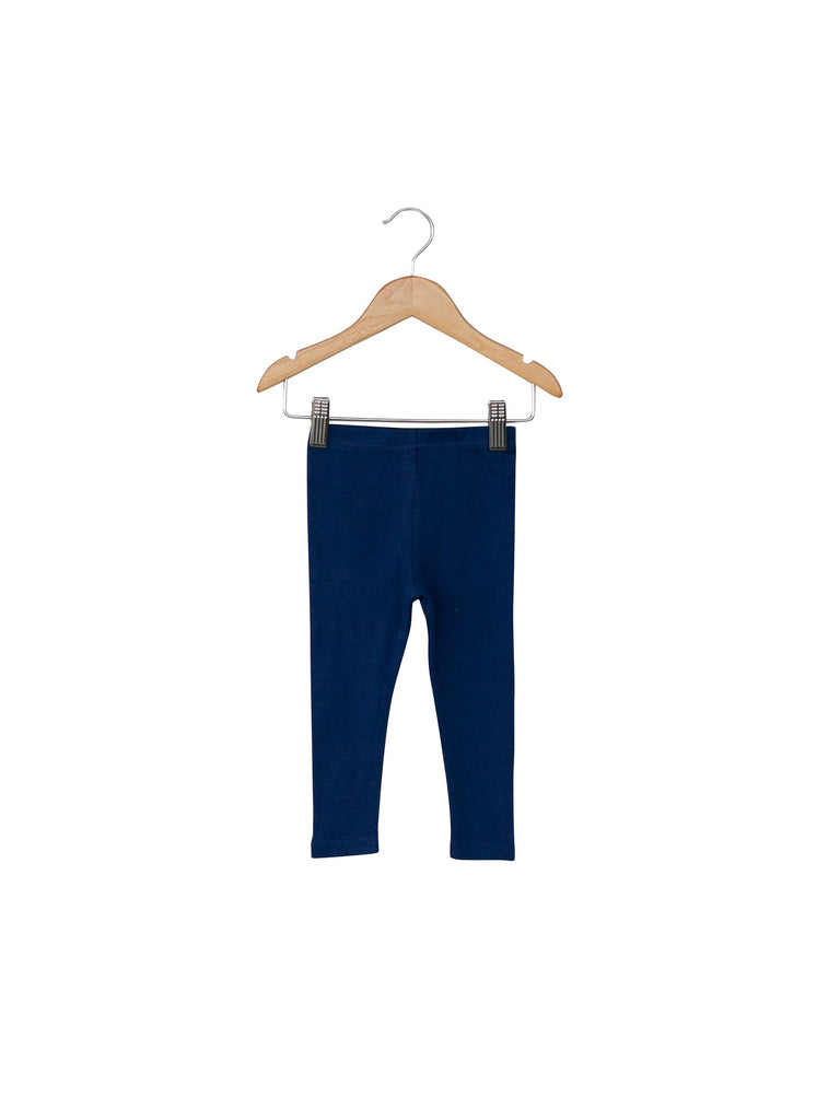 Modern Burlap- Baby + Child Organic Legging - NAVY PEONY