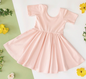 Copy of Alice + Ames- THE SHORT SLEEVE BALLET DRESS IN BLUSH