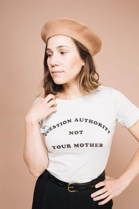 The Bee & The Fox - Question Authority, Not Your Mother (Fitted Crewneck)
