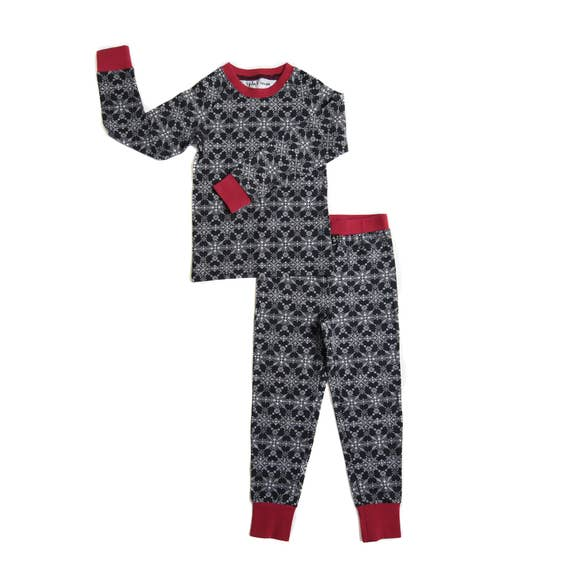 Tiny Trendsetter - (Lola & Taylor) - Winter Wonderland Kids Pajama Set