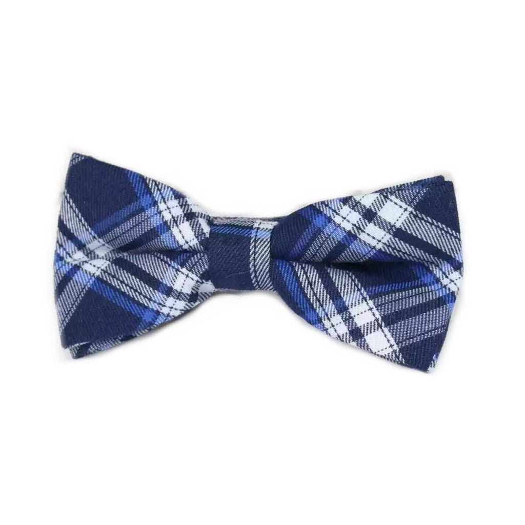 Tiny Trendsetter - Kids Navy Plaid Bowtie (6 Months - 12 Years)
