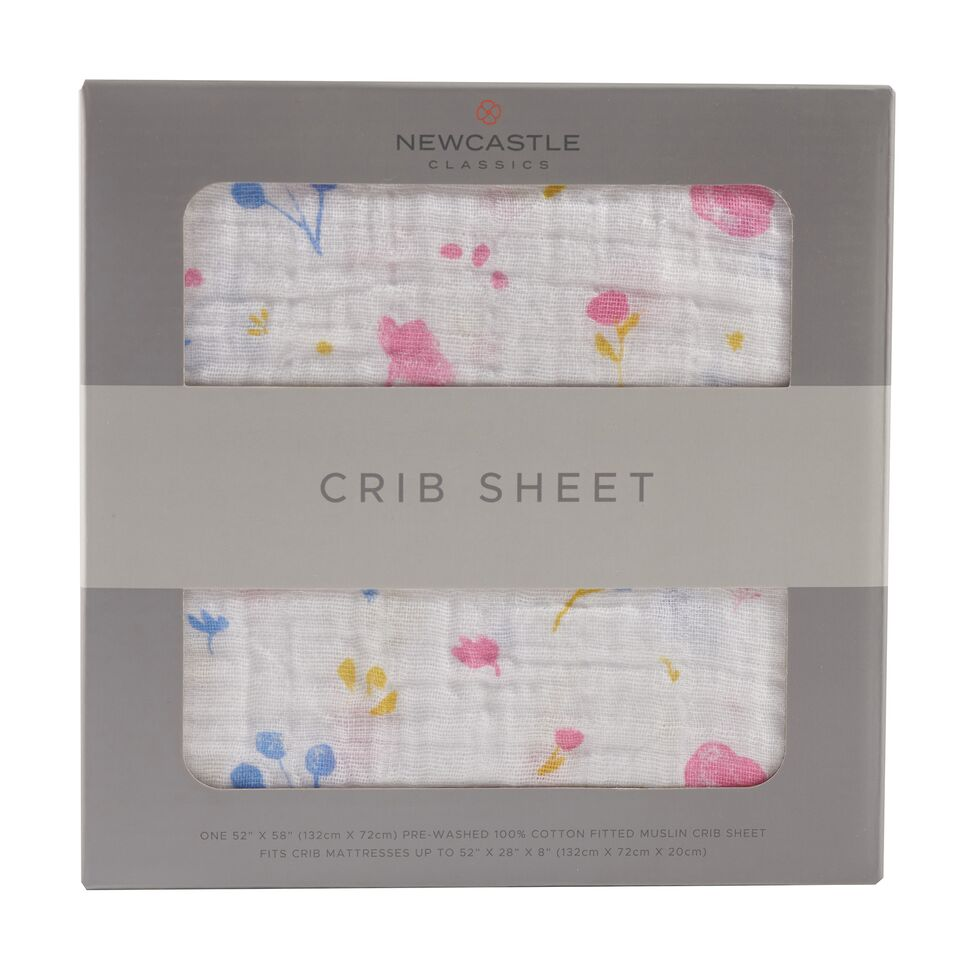 Newcastle Classics - Spring Time Flower Crib Sheet