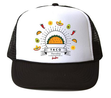 Bubu - Taco Tuesday White/Black Trucker Hat